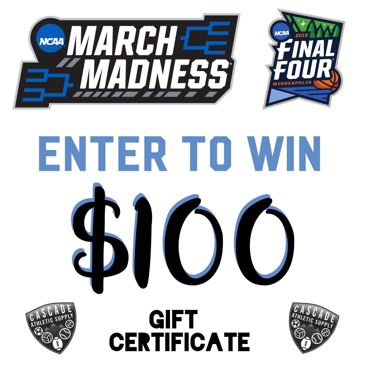 March Madness Enter to Win Cascade